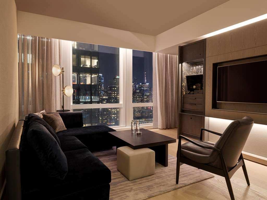 豪华一卧室角落套房客厅  Deluxe One Bedroom Corner Suite