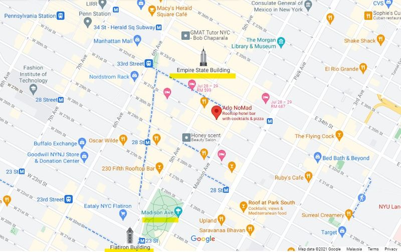 Arlo NoMad酒店地图