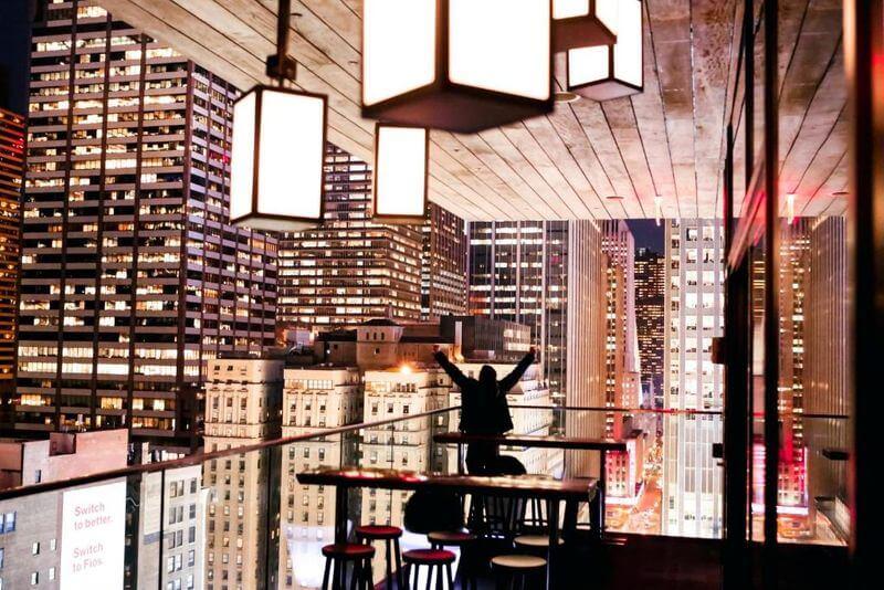 CitizenM New York Times Square 顶楼酒吧 CloudM